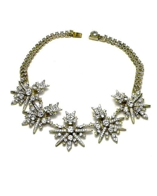 Otazu | Metallic Swarovski Crystal Starburst Necklace | Lyst