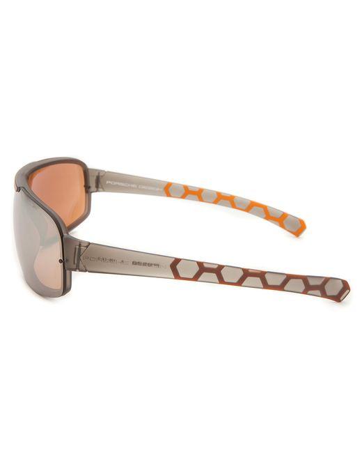 Porsche design Men's Shield Translucent Grey Sunglasses in ...