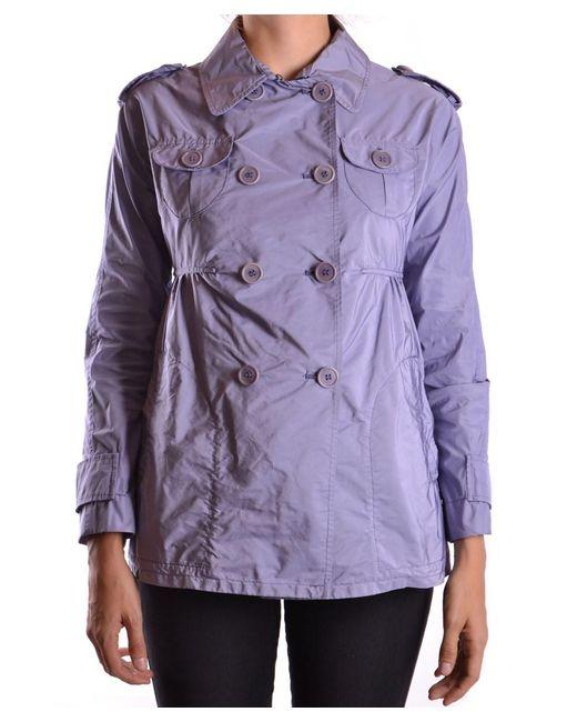 Aspesi - Women's Purple Polyamide Trench Coat - Lyst