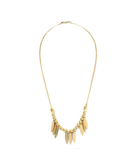 Peermont | Metallic Gold Graduated Leaf Necklace | Lyst