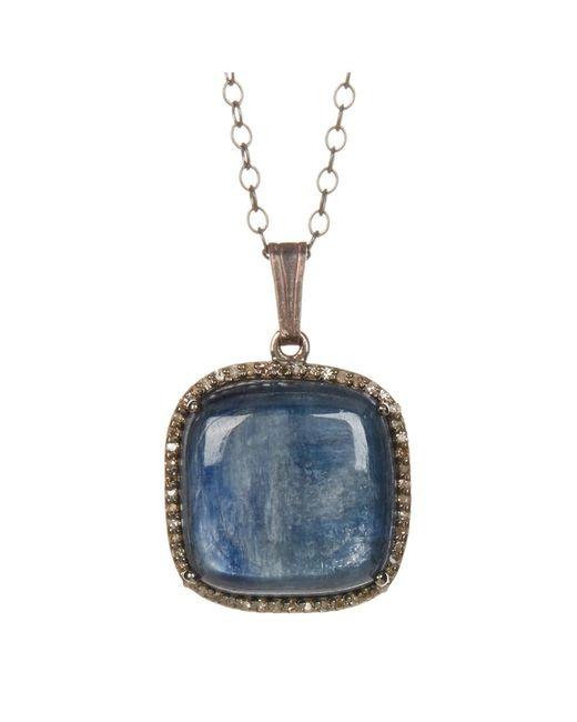 Adornia | Blue Kyanite And Champagne Diamond Zora Necklace | Lyst