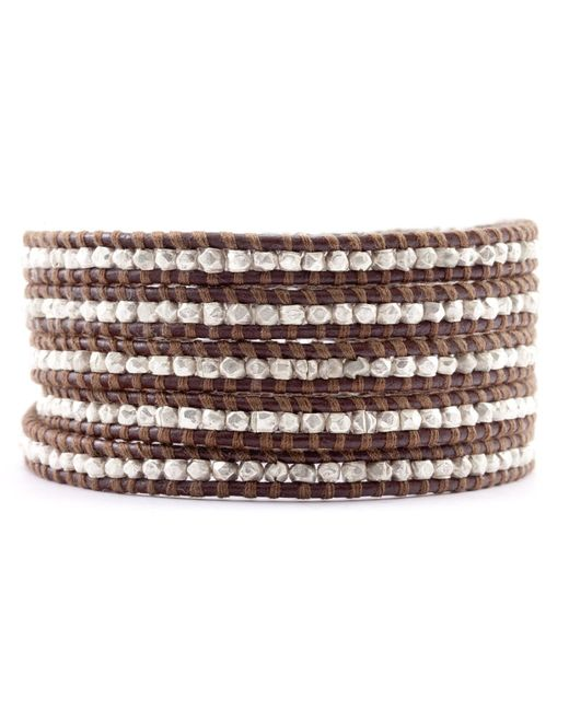 Chan Luu | Brown Suraiya Rose Gold Bead Wrap Bracelet | Lyst