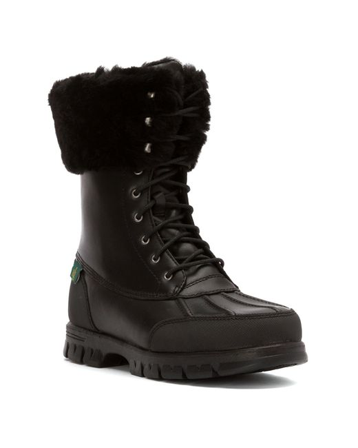 Lauren By Ralph Lauren Women S Quinta Snow Boots In Black