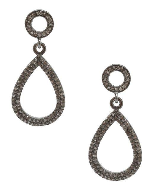 Adornia | Metallic Champagne Diamond And Sterling Silver Raina Earrings | Lyst