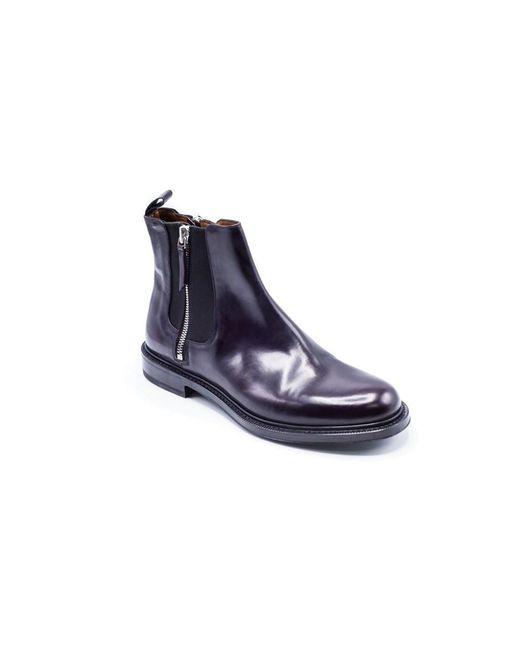 Givenchy | Men's Dark Purple Zip Detail Ankle Boots for Men | Lyst