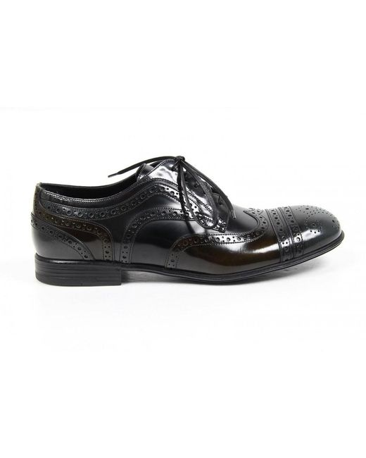 Dolce & Gabbana | Black Derby Milano Shoes for Men | Lyst