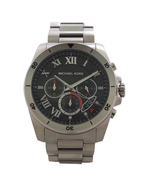 Michael Kors | Metallic Mk8438 Brecken Silver-tone Watch for Men | Lyst