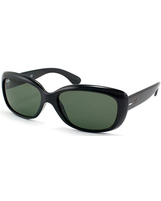 Ray-ban Jackie Ohh Rectangle Plastic Sunglasses in Black ...