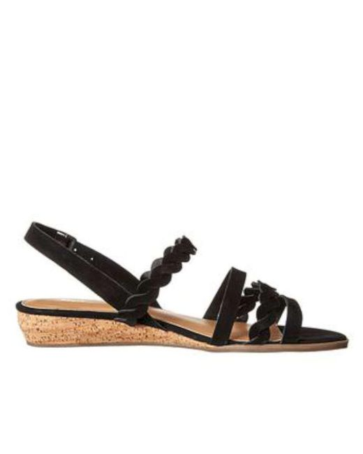 9cd61d8bd06d G.H.BASS - Black Womens Jolie Open Toe Casual Ankle Strap Sandals - Lyst ...