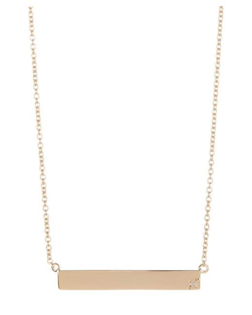 Adornia | Yellow Gold Vermeil And Diamond Bar Necklace | Lyst