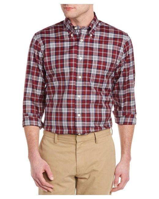 Brooks Brothers | Red Blanket Plaid Button Down Shirt - Classic Fit for Men | Lyst