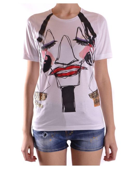 DSquared² - Women's White Cotton T-shirt - Lyst