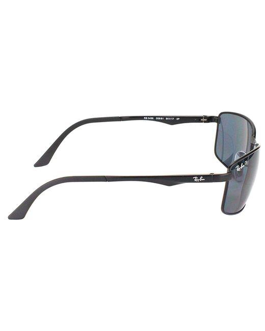 bda8155dfe Lyst - Ray-Ban Rb3498 006 81 61mm Black Sport Sunglasses in Black