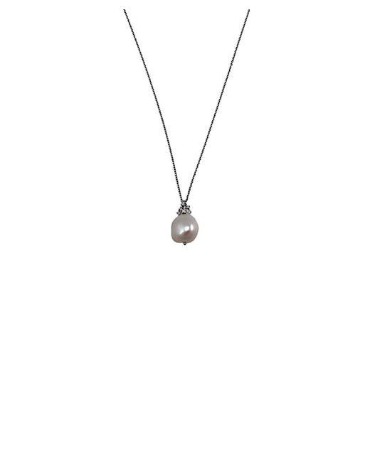 "Damiani | Metallic Bliss By """"galatea"""" 18k Diamond & 9.31mm Pearl Necklace | Lyst"