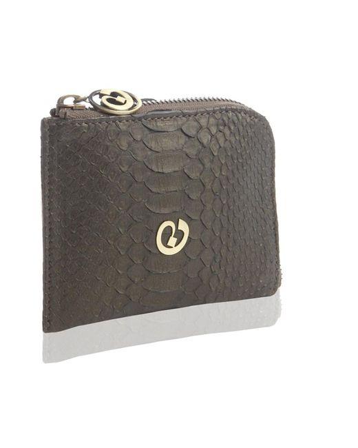 Nada Sawaya   Brown Medium Zip Around Python Wallet   Lyst