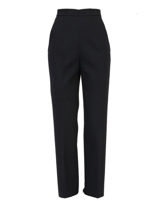 MSGM - Women's Black Polyester Pants - Lyst