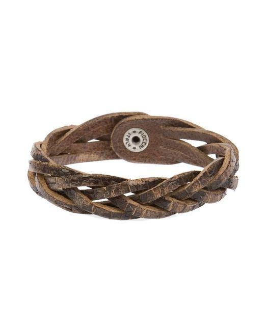 Orciani - Men's Brown Leather Bracelet for Men - Lyst