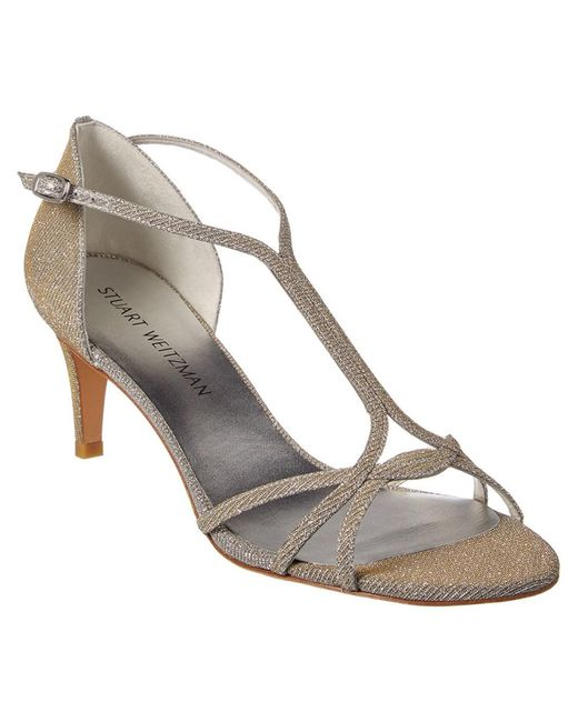 Stuart Weitzman - Metallic Sundress Heeled Sandal - Lyst