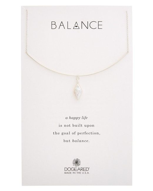 Dogeared - Metallic Balance Silver Necklace - Lyst