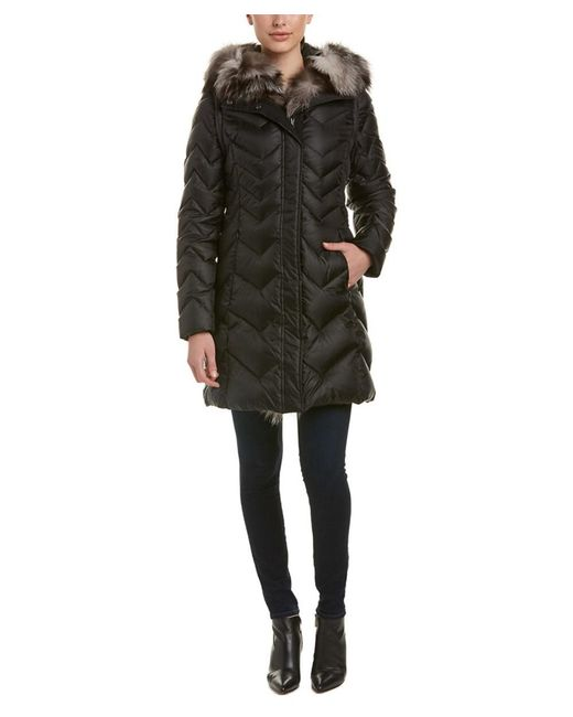 Dawn Levy | Black Naomi Long Parka With Fur Hood | Lyst