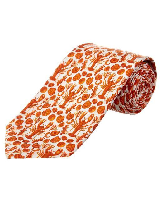 Cole Haan - Orange Clam Bake Silk-blend Tie for Men - Lyst