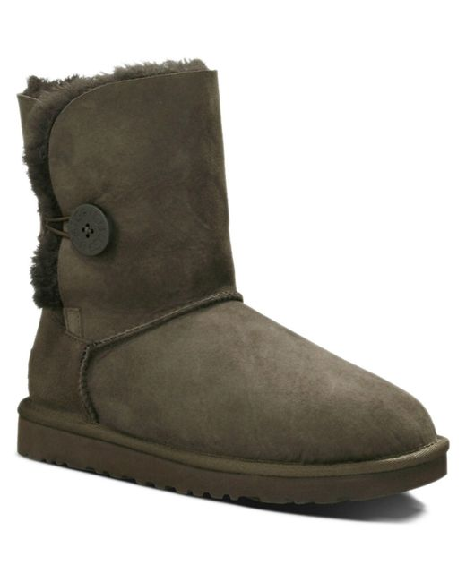 UGG   Brown Bailey Button Twinface Sheepskin Boot   Lyst