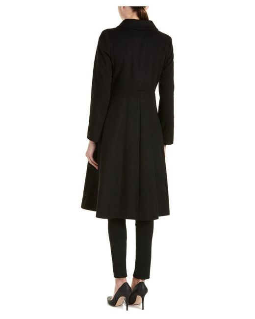 Cinzia Rocca | Black Wool-blend Coat | Lyst