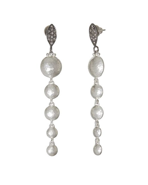 Gurhan - Metallic Lentil Pave Drop Earrings - Lyst