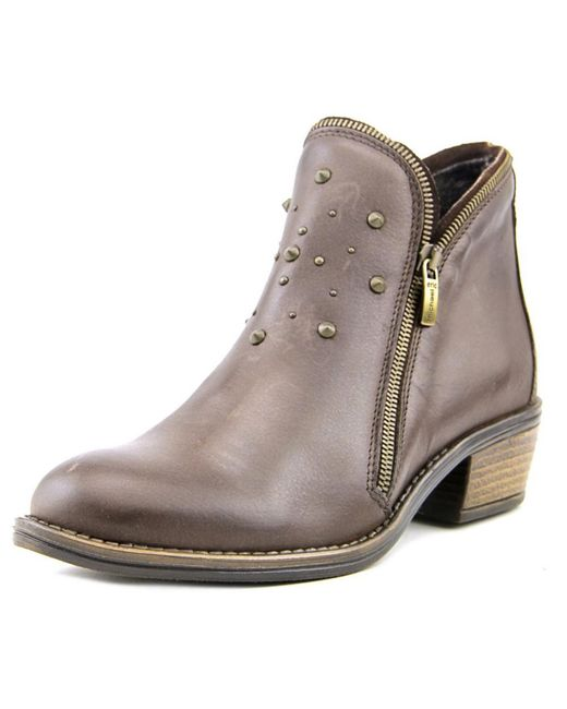 Eric michael Astro Women Round Toe Leather Brown Bootie in ...