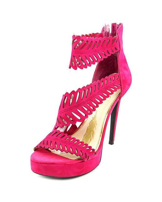 Jessica Simpson | Azure Women Open Toe Suede Pink Platform Heel | Lyst