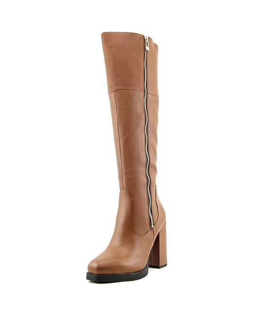 Circus by Sam Edelman | Brown Hollands Women Round Toe Leather Tan Knee High Boot | Lyst