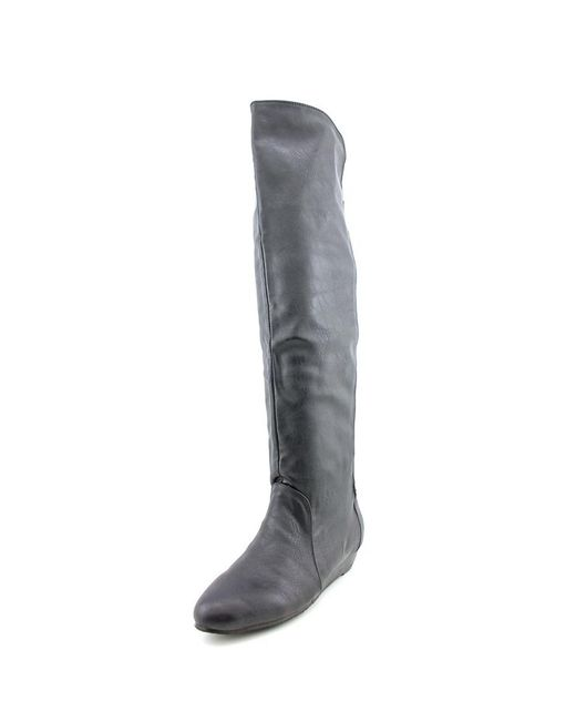 Chinese Laundry | Trickster Women Round Toe Synthetic Black Over The Knee Boot | Lyst