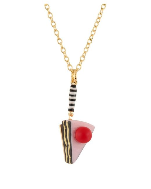 Les Nereides | Pink So Sweet Removal Slice Of Cake Double Row Necklace | Lyst