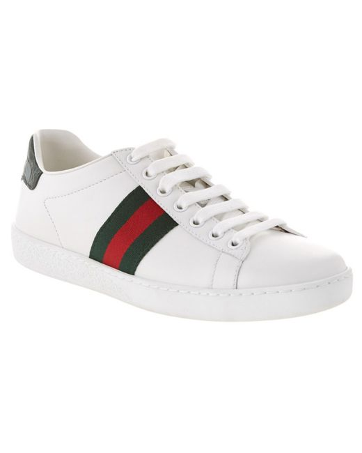 Gucci | Green 'new Ace' Sneaker | Lyst
