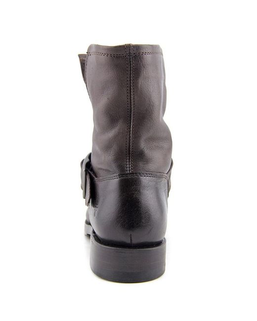 Frye Natalie Short Engineer Women Round Toe Leather Gray Ankle ...