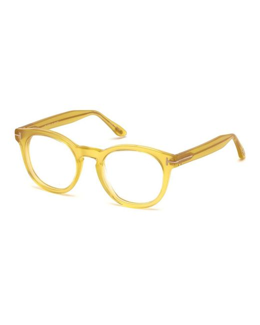 be2e025c9377 Tom Ford - Yellow Optical Ft5489-041-50 Unisex Eyeglasses - Lyst ...