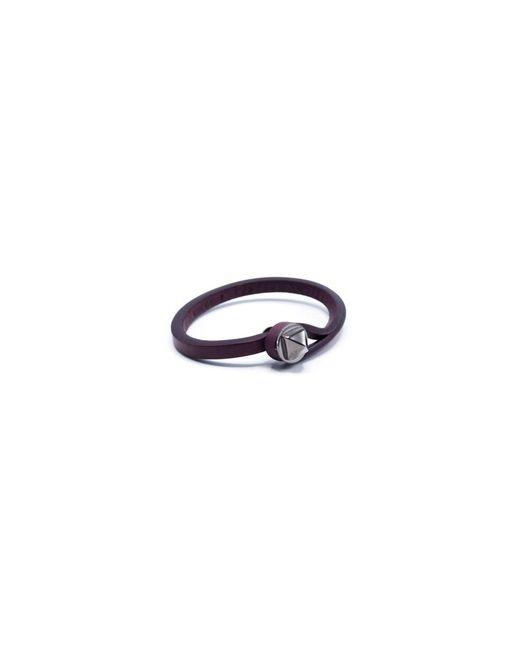 Valentino | Men's Brown Leather Rockstud Bracelet for Men | Lyst