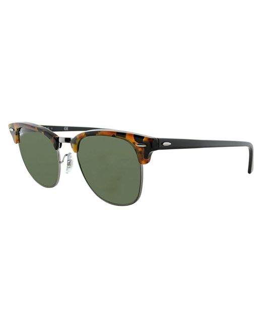 Ray-Ban | Brown Unisex Rb3016 51mm Clubmaster Sunglasses | Lyst
