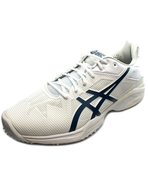 Asics | Gel-solution Speed 3 Grass Men Round Toe Synthetic White Sneakers for Men | Lyst