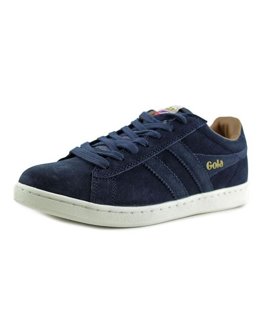 Gola | Equipe Men Round Toe Leather Blue Sneakers for Men | Lyst