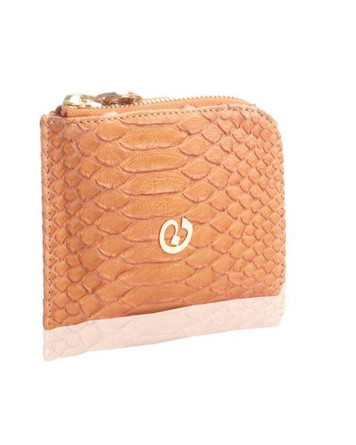 Nada Sawaya | Orange Medium Zip Around Python Wallet | Lyst