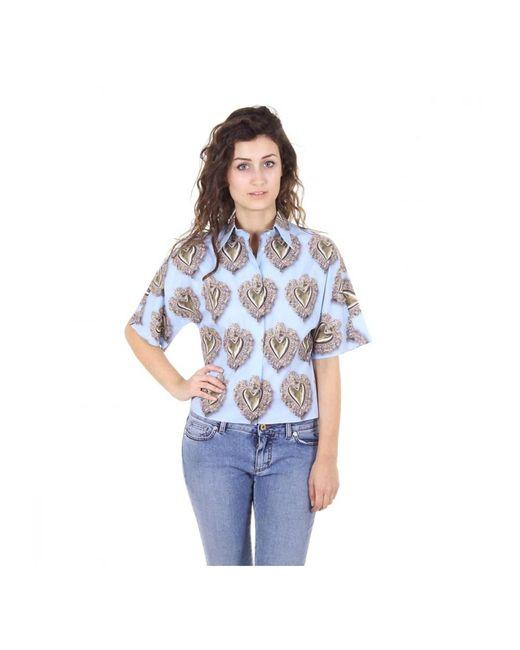 Dolce & Gabbana   Blue Ladies Shirt Long Sleeve   Lyst