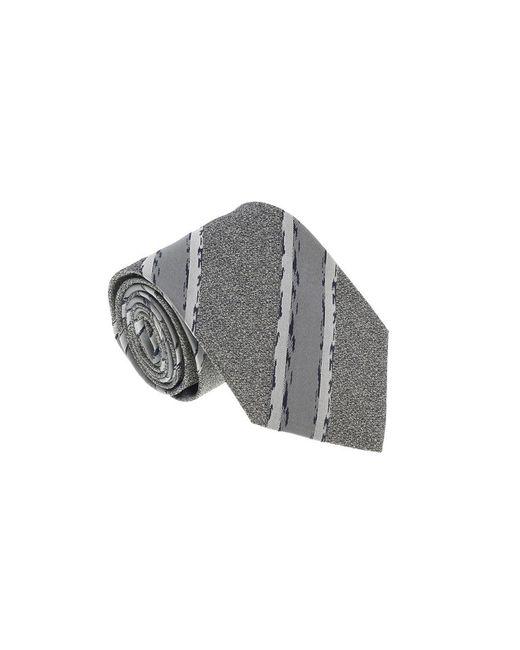 Missoni - U4803 Gray/silver Repp 100% Silk Tie for Men - Lyst