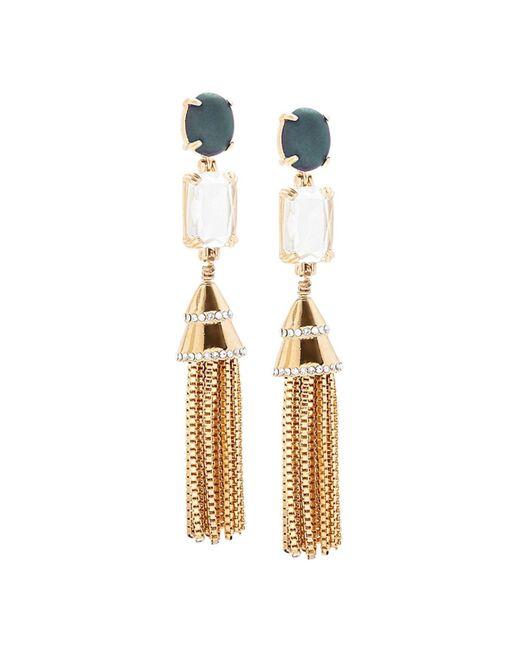 Lele Sadoughi | Metallic 12k Plated Howlite & Crystal Tassel Earrings | Lyst