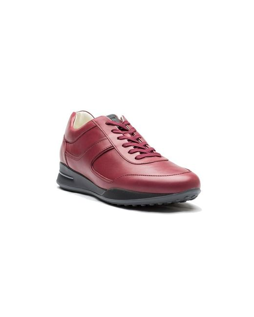 Tod's | Men's Leather Allacciato Sport T Project Low Top Sneakers Shoes Dark Red for Men | Lyst