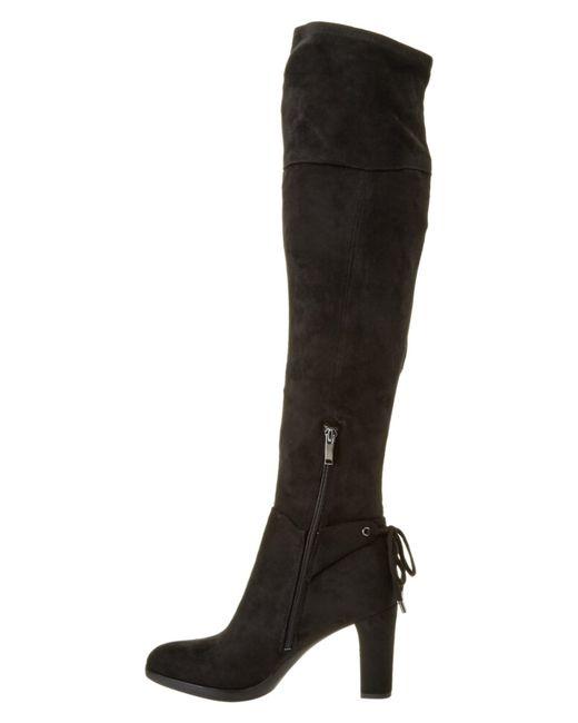 franco sarto ivanea suede the knee boot in black lyst