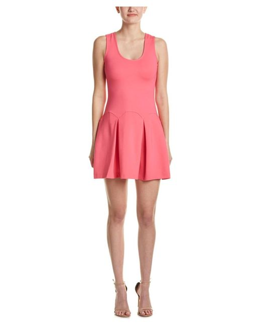 Parker   Pink Pleated A-line Dress   Lyst
