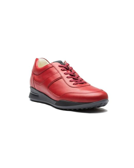 Tod's   Men's Leather Allacciato Sport T Project Low Top Sneakers Shoes Red for Men   Lyst