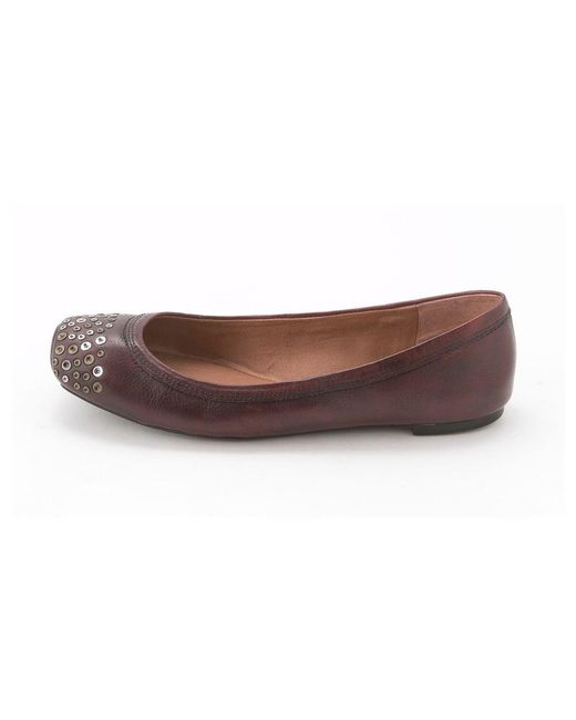 Lucky Brand | Red Womens Secho Leather Square Toe Ballet Flats | Lyst