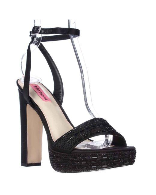 Betsey Johnson   Black Alliie Platform Evening Sandals   Lyst